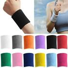 1/2pc  Women Men Cotton Gym Sports Sweat Band Sweatband Wristband Wrist Band