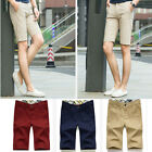 New Mens Casual Pants Shorts Stylish Men Linen Beach Short Trousers Middle Pants