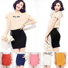 Sexy Mini Skirt Above Knee Pencil Skirt Slim Seamless Stretch Tight Short Fitted