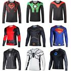 Fashion Men Compression Superhero Xman T-shirt Long Sleeve Cycling Sport Top Tee