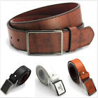 Vintage Mens Casual Leather Belts Strap Black Brown White Tan Business Casual