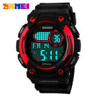 SKMEI Mens Water Resistant 50m Military LCD Digtal Silicone Sports Quartz Watch