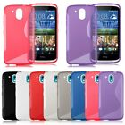 S-Line Wave Shape Flexible Soft TPU Gel Rubber Case Cover for HTC Desire 526G+