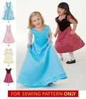 SEWING PATTERN! MAKE GIRLS FANCY PRINCESS STYLE DRESS! SIZE 1/2~3/4~8! PARTY