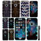 For Apple iPhone 6 4.7 inch Impact Design HYBRID Rubber HARD Case Cover + Pen