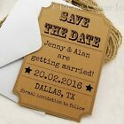 Personalised Rustic Kraft Woodsy Cottage Wedding Save the Date Cards