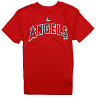 Majestic MLB Youth Los Angeles Angels Team Name Wordmark Short Sleeve Tee