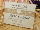 Personalised White Forever Love Wedding Save the Date Cards with Envelopes
