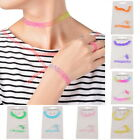 1Set New Vintage Stretch Tattoo Choker Necklace Charms Set Retro Punk Elastic
