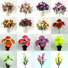 Colorful Artificial Fake Silk Rose Flower Wedding Party Home Decoration