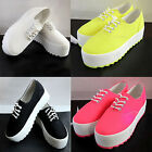 Women Canvas Platform Single Shoes Low Elevator Women Casual Sneakers Shoes CAHF