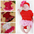 Baby Ruffles Tutu Skirt Toddler Romper Girls One-Piece Outfit Lovely Dress 6-12M