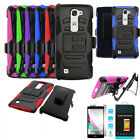 Phone Case For LG Volt 2 LS751 Rugged Holster Cover Stand Tempered Class Screen