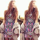 Fashion Womens Floral Print Casual Dress Holiday Party Beach Short Mini Sundress