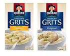 Quaker Instant Original ~ Butter Grits Hot Cereal 2 Boxes ~ 24 Single Packets