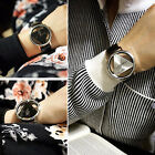 Chic Women's Men Gift Round Dial Stainless Steel Band Analog Quartz Wrist Watch