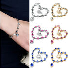 hot seller Jewelry Crystal Rhinestone Chain sterling silver Charm Bracelet gift
