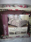 Jessica Sanders Queen bed in a bag Comforter pillow shams & bedskirt set new