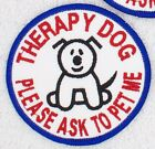 1 THERAPY DOG ROUND PATCH 3 INCH Danny & LuAnns Embroidery in training service