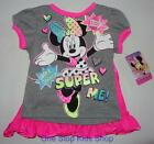 MINNIE MOUSE Toddler Girls 2T 3T 4T 5T Tee SHIRT & Super Hero CAPE Top Disney