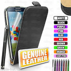 Real Genuine Leather Flip Case Pouch Cover For New Samsung Galaxy S4 i9500