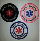 U-Pick Colors Embroidered Sew-On Patch -  TYPE 1 DIABETIC INSULIN DEPENDENT