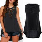 Sexy Women Retro Hollow Tank Tops Vest Top Sleeveless Casual Loose Shirt Blouse