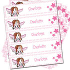 Personalised Fairy Iron on School Uniform Girls Clothes Name Labels Tags x 30