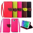 Luxury Leather Clip Folio Wallet Card Holder Case Stand Cover For SAMSUNG G850F
