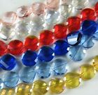 24pcs Crystal Faceted Flat Spacers 14x7mm 7colors-1 AM16-AM22