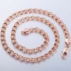 6MM Snail Link Mens Chain Unisex White/Rose/Yellow Gold Filled GF Necklace NEW