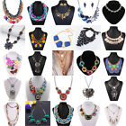 Vintage Womens Charms Crystal Rhinestone Chunky Fashion Statement Necklaces Gift