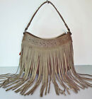 New Montana West - Trinity Ranch Studded Hobo w/ Long Soft Leather Fringe