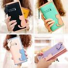 Fashion Women Lady Cute Cat Clutch Long Purse Wallet Card Holder Mobile Bag MSYG
