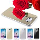 Glossy TPU Back Case Mirror Rubber Soft Cover For iPhone 6 Samsung Galaxy Phone