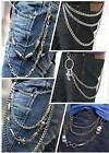 Punk Mens Multi-layers Trousers Pants Belt Key Skull Jean Gothic Rock Body Chain