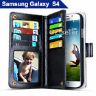Samsung Galaxy S4 i9500 i9505 Case Magnet Leather Wallet Card Flip Cover