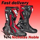 SIDI ST - CE APPROVED SPORTS RACE BOOTS MOTORBIKE MOTORCYCLE BLACK RED