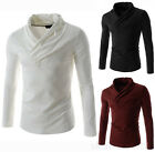Fashion Men Stylish Tops Slim Casual T-shirts Polo Shirt Long Sleeve Tee 3 color