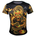 Chinese dragon Quick-drying Sports Cycling Jersey 3D T-Shirt Round Top Tops Tee