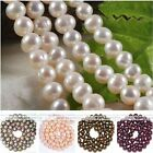 6-8mm Womens Cultured Freshwater Round Luster Pearl Loose Beads Jewelry DIY Gift