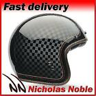 Bell Custom 500 Check It Gloss Black Gold Roland Sands Design Open Face Helmet