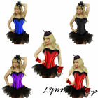 Burlesque Corset Tutu Skirt Costume Womens Cosplay Halloween Fancy Dress
