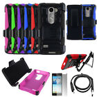 Phone Case For Cricket Wireless LG Escape 2 Cover Stand Holster USBCharger Film