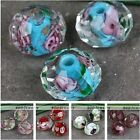 Murano Lampwork Glass Faceted Rose Flower Abacus Spacer Loose Beads Jewelry DIY