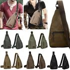 Men's Military Canvas Satchel Shoulder Bag Messenger Bag Travel Hiking Backpack