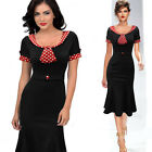 Sexy Womens Vintage Rockabilly Pinup 1950's Party Evening Pencil Housewife Dress