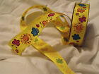 Summer Garden Bugs Galore! Bright Butterfly Sun - Luxury Wire Edged Ribbon