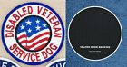 1 DISABLED VETERAN SERVICE DOG PATCH 3 INCH FLAG Danny & LuAnns Embroidery