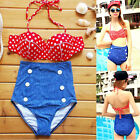 Hot Women High Waist Swimsuit Push up Padded Bra Bikini Set Summer Sexy Swimwear